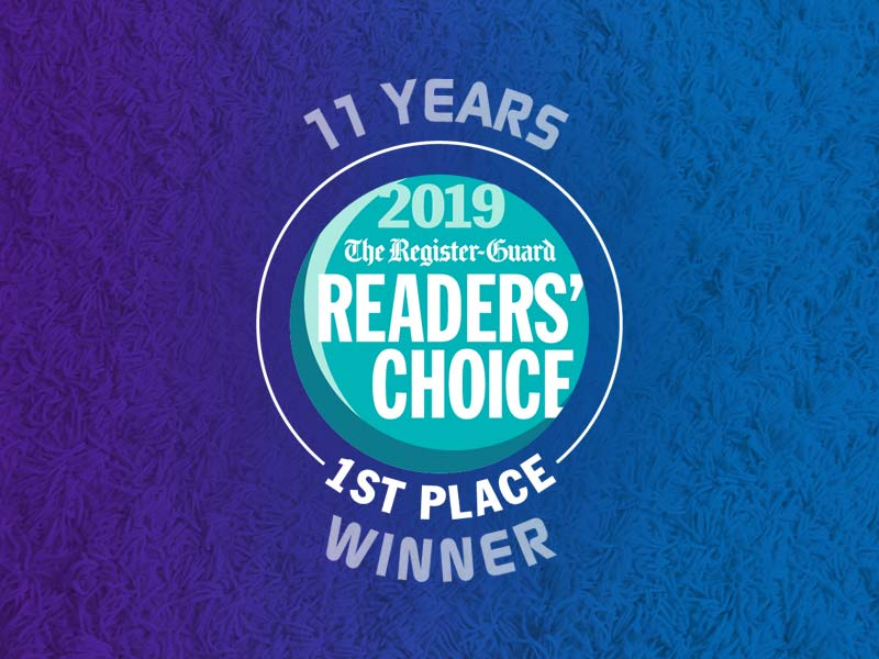 Winner! Register Guard's Readers' Choice Best Carpet Cleaning Company 2019